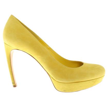 Alexander McQueen Plateaupumps in yellow