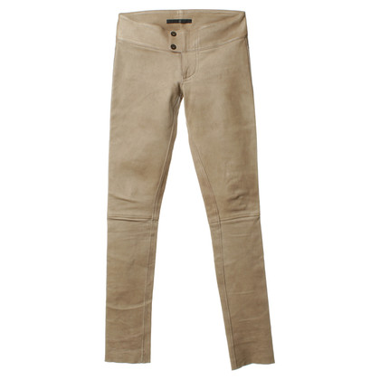 Altre marche Sly - pantaloni in pelle Taupe