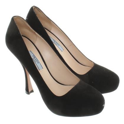 Prada Black suede pumps
