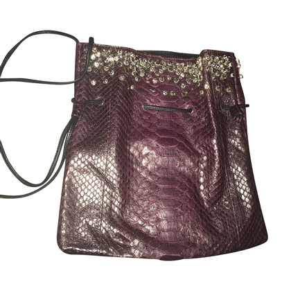 Ermanno Scervino Python leather handbag