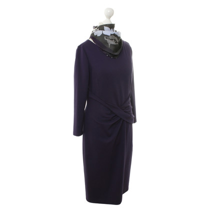 Armani Collezioni Dress in purple with silk scarf