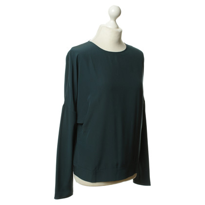 Maison Martin Margiela Silk top in teal