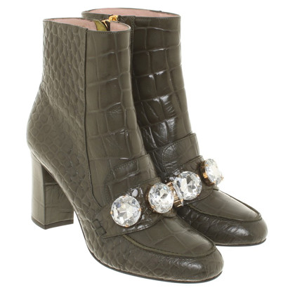 Moschino Cheap and Chic Ankle boots in olive green