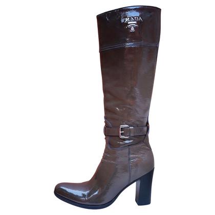 Prada Patent leather degrade boots