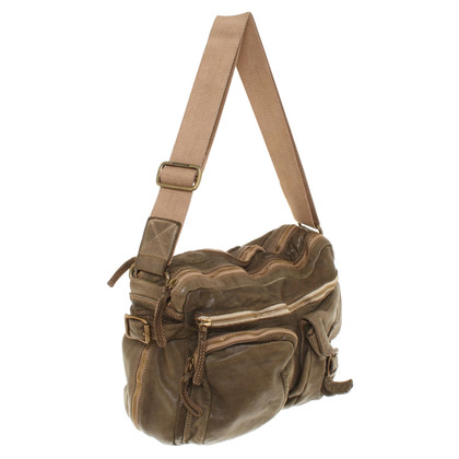 Campomaggi Leather shoulder bag in olive