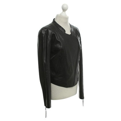 Hugo Boss Leather jacket in black