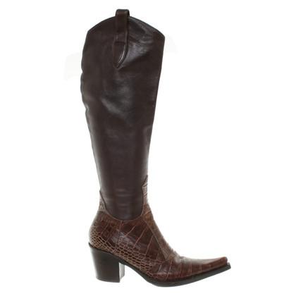 Gianmarco Lorenzi Boots in Brown