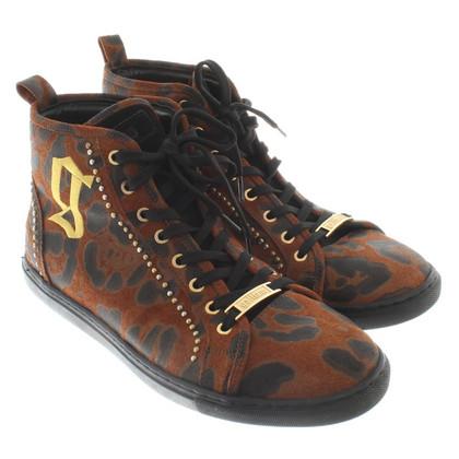 John Galliano chaussures de sport haut-top avec motif