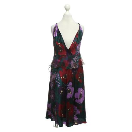 Moschino zijden jurk met patroon