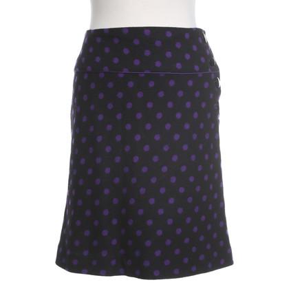 Hobbs skirt in black / violet