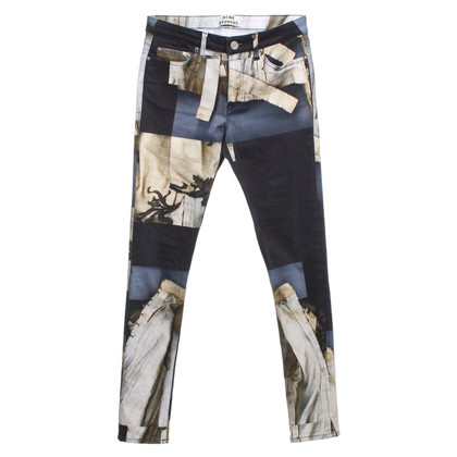 Acne trousers with motif print