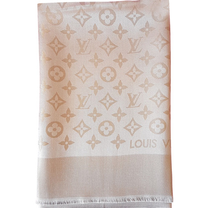 Louis Vuitton Stole Monogram Shiny Beige