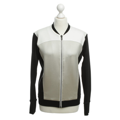 Helmut Lang Giacca Bomber in nero/bianco/beige