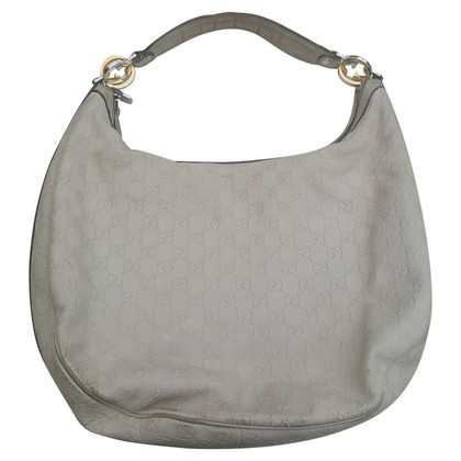 Gucci Hobo Bag with embossed Guccissima