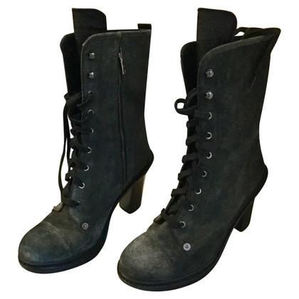 Prada SUEDE gray boots 40
