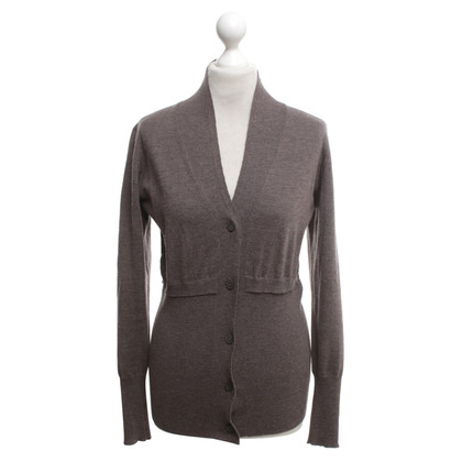 Fabiana Filippi Cardigan in grigio-marrone