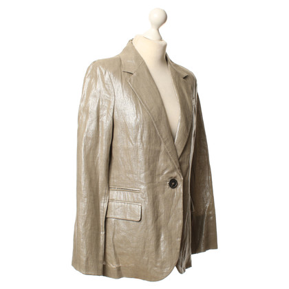 Comptoir des Cotonniers Gray Blazer with fancy yarn