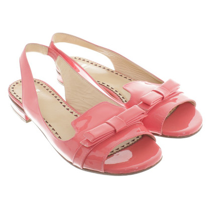 Moschino Cheap and Chic Sandals in coral red