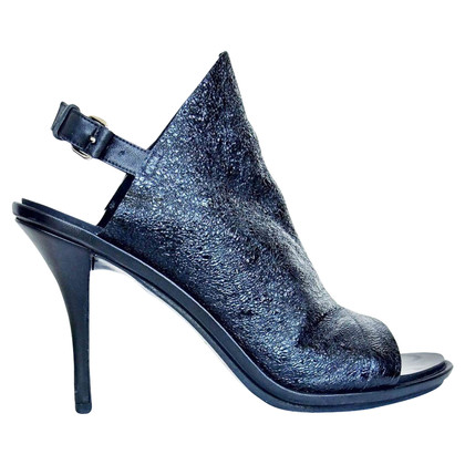 Balenciaga Leather open toe heels