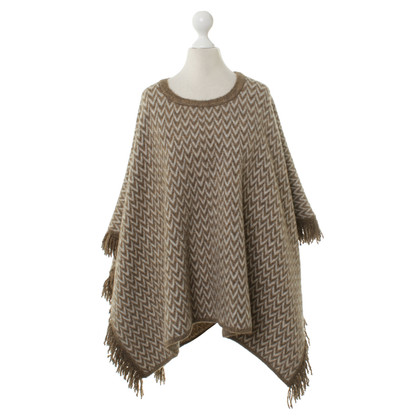 Closed Poncho mit Zick-Zack-Muster