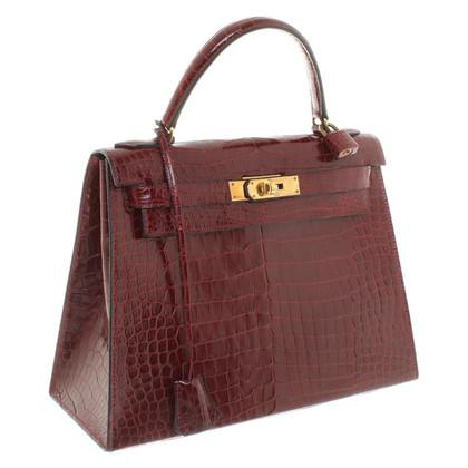 "Hermès ""Kelly Bag 28"" aus Krokodilleder"