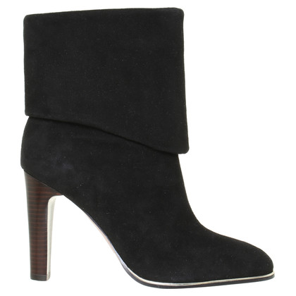 Jean-Michel Cazabat Suede Ankle Boots in black