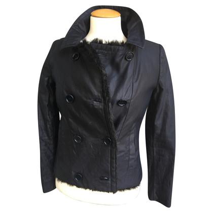 Prada Vest met voering van namaakbont