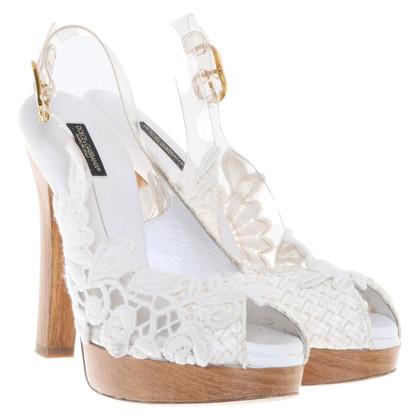 Dolce & Gabbana Sandali con zeppa con applicazione