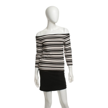 Karen Millen top with stripe pattern