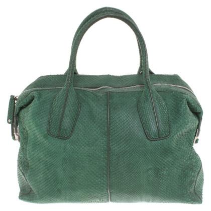 Tod's Handtasche aus Pythonleder