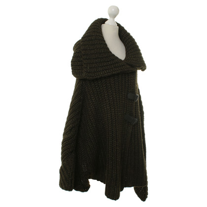 Hugo Boss Knitted Cape in green