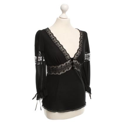 Dolce & Gabbana Blouse met kant inserts