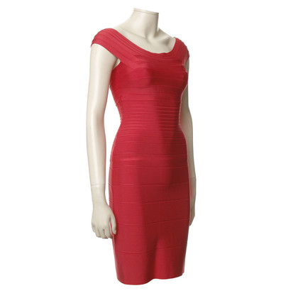 Herve Leger Textured dress in red