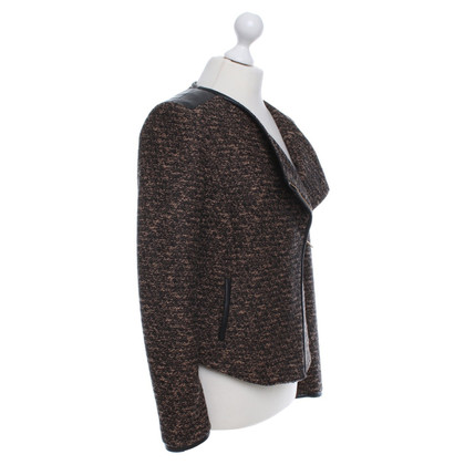 Hugo Boss Bouclé jacket in brown / black