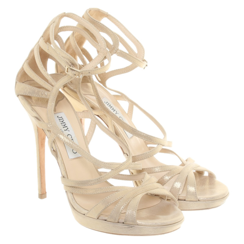 Jimmy Choo Sandals Leather in Gold