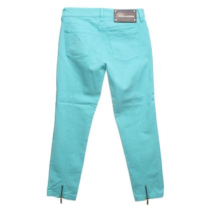 Blumarine Pantaloni Capri con rifiniture in pietra preziosa