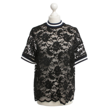 Ganni Top Lace in Black
