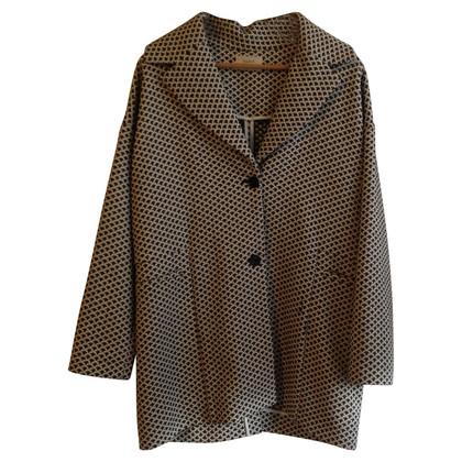 Bash Oversize coat in black and white