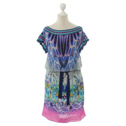 Alberta Ferretti zijden jurk met print