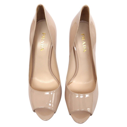 Prada Peep Toe Patent Leather
