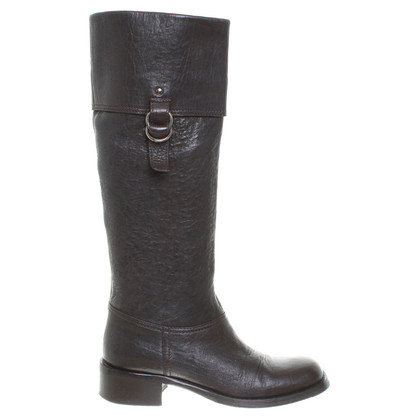 Miu Miu Black leather boot