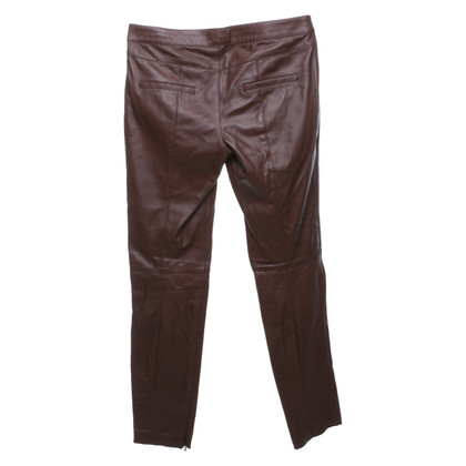 Strenesse Brown leather trousers