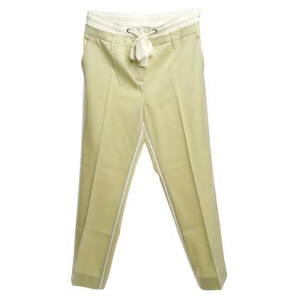 Schumacher trousers in light green