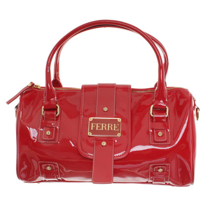 Ferre Patent leather bag in red
