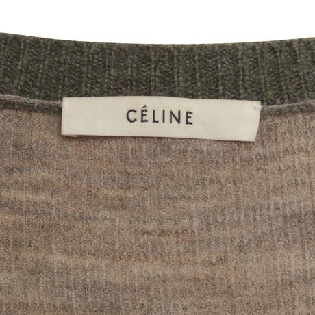 Céline Strickjacke in Khaki Khaki Billig LbLK3fH