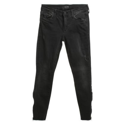 Mother Skinny jeans in zwart