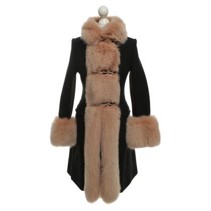 Autres marques VDP - manteau avec garniture en fourrure de renard