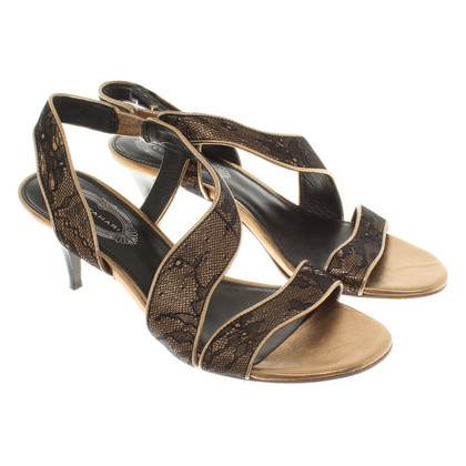 Elie Tahari Sandals with lace trim