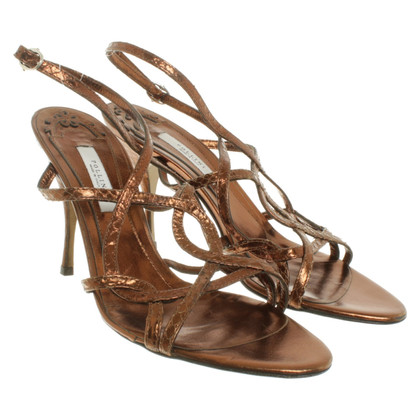 Pollini Bronze colored sandals
