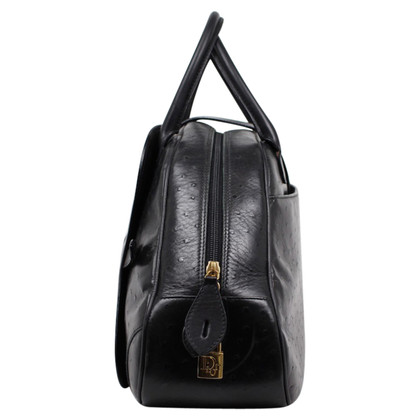 Christian Dior Dior Bag zwart Struisvogelleer Bowlen